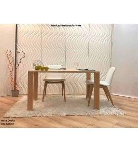 Mesa Fija de cocina o comedor Osaka en madera