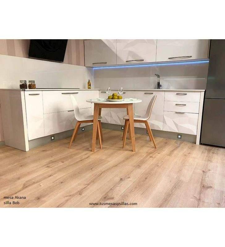 Silla Bob Pata madera de cocina comedor y contract