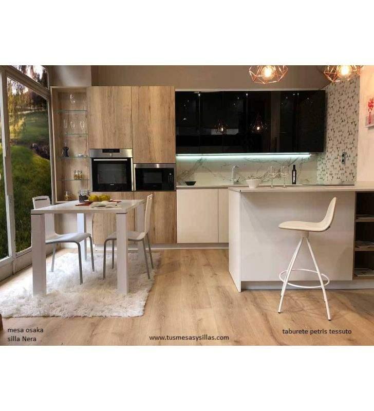 Cuisine fixe ou table à manger Osaka en bois et formica