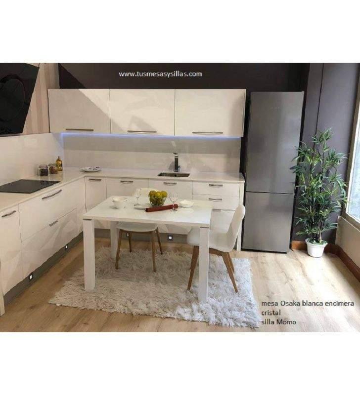 Mesa Fija de cocina o comedor Osaka en madera y formica