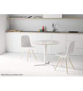 Mesa Pelican con pie central para cocina u hosteleria