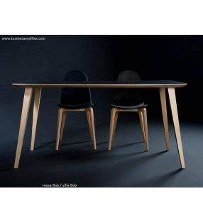 mesa Bob  en madera de cocina y comedor ondarreta