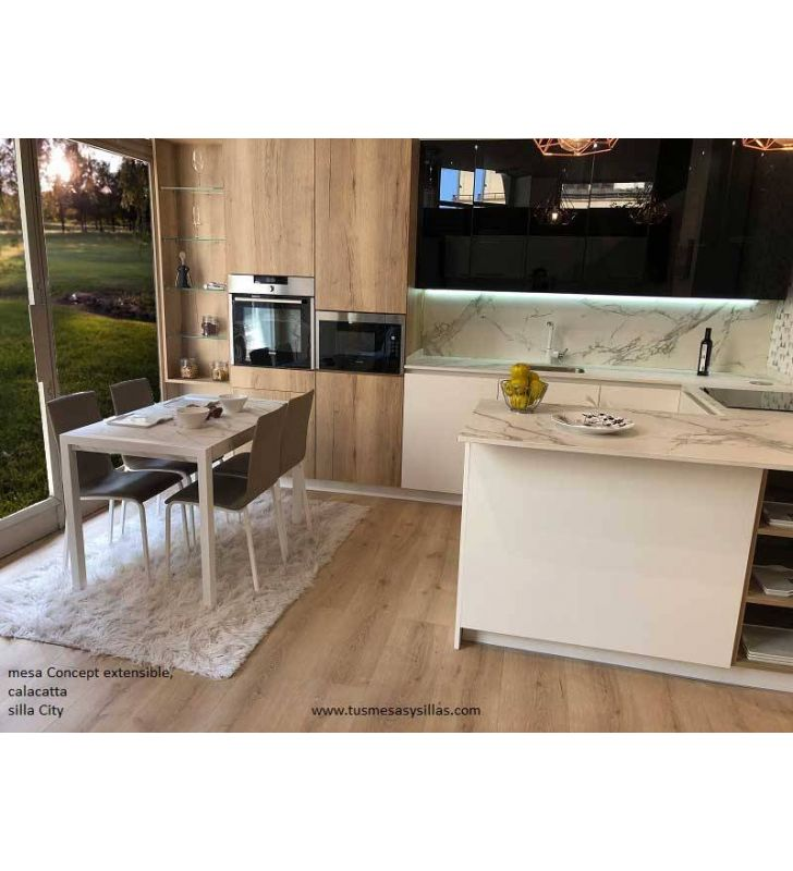 mesa concept extensible de cocina moderna cancio
