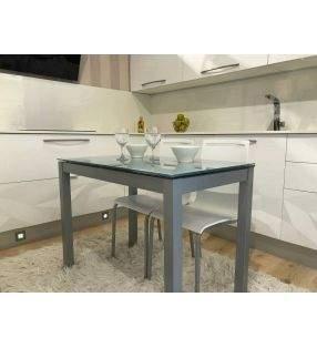 Mesa cocina extensible Celeste, extensible igual encimera