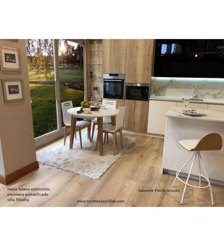 Table Adana extensible ronde de style scandinave