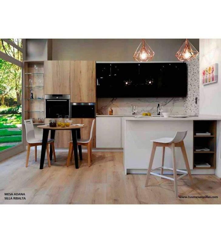 mesa-redonda-madera-antracita