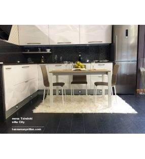 MesaPunto extensible 140x70 para cocina y comedor de Ondarreta