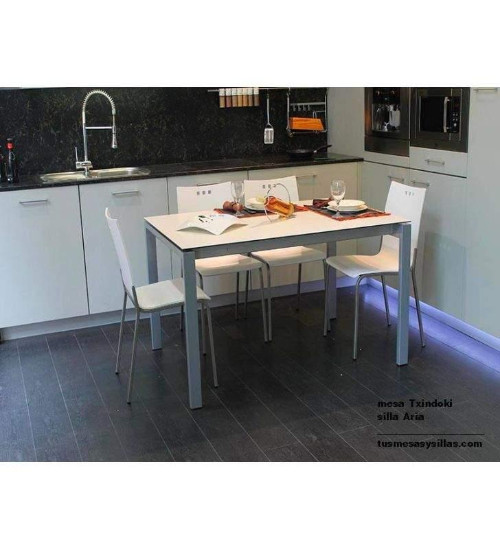 mesa cocina extensible Punto Ondarreta 90x90 cuadrada