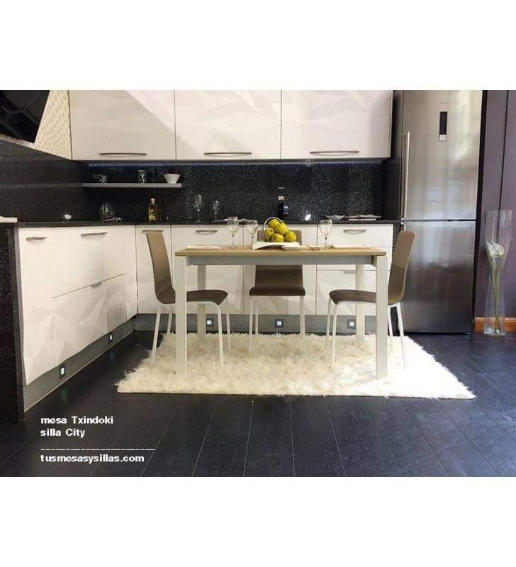 mesa cocina extensible Txindoki 100x80cm