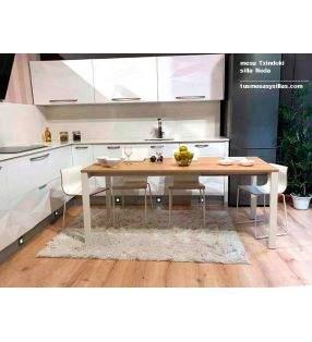 mesa cocina extensible Punto 100x90cm de Ondarreta