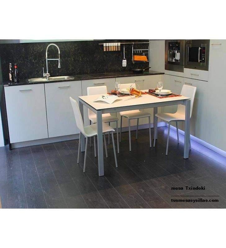 Table Point 130 x 90 extensible ondarreta cuisine et salle à manger