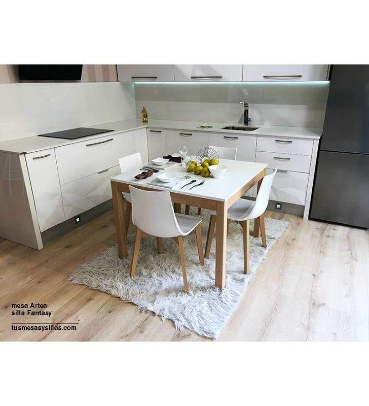 Mesa fija Artea encimera madera, laminado