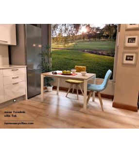 Table de cuisine Spot 110x80 extensible d'Ondarreta