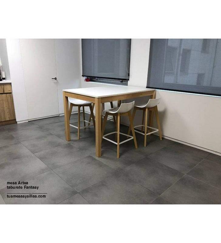Mesas altas Artea XL encimera en laminado laca o madera