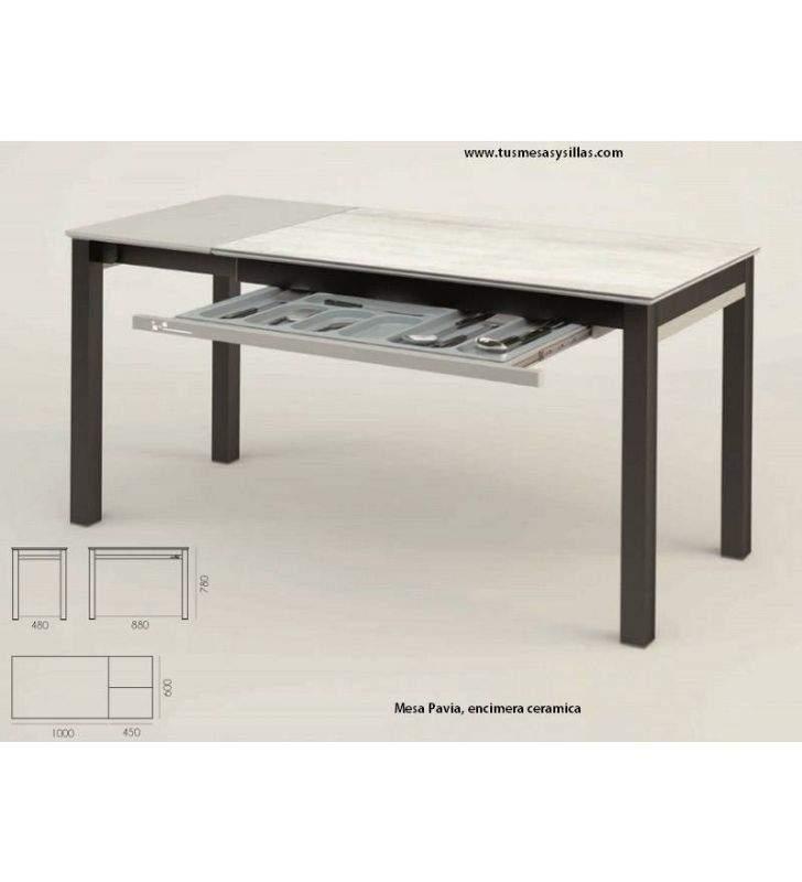 mesa-extensible-cocina-cajón