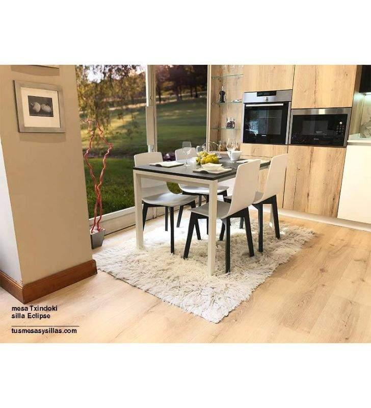 mesa Txindoki pequeña 90x70cm extensible para cocina