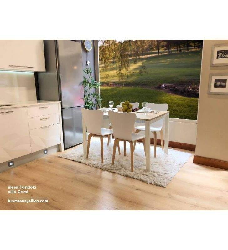 mesa cocina extensible Punto Ondarreta 80x80