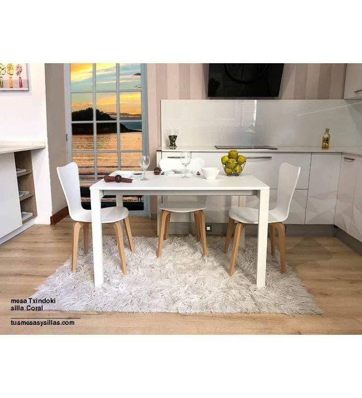 Table petit point 90x70cm extensible pour cuisine Ondarreta