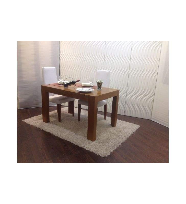 Mesa extensible de comedor en madera y laca