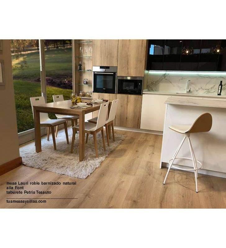 mesa-roble-cocina-cuadrada