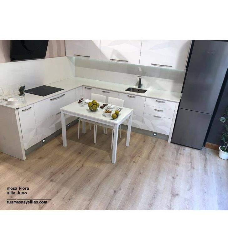 Mesa dos extensiones blanca para uso diario