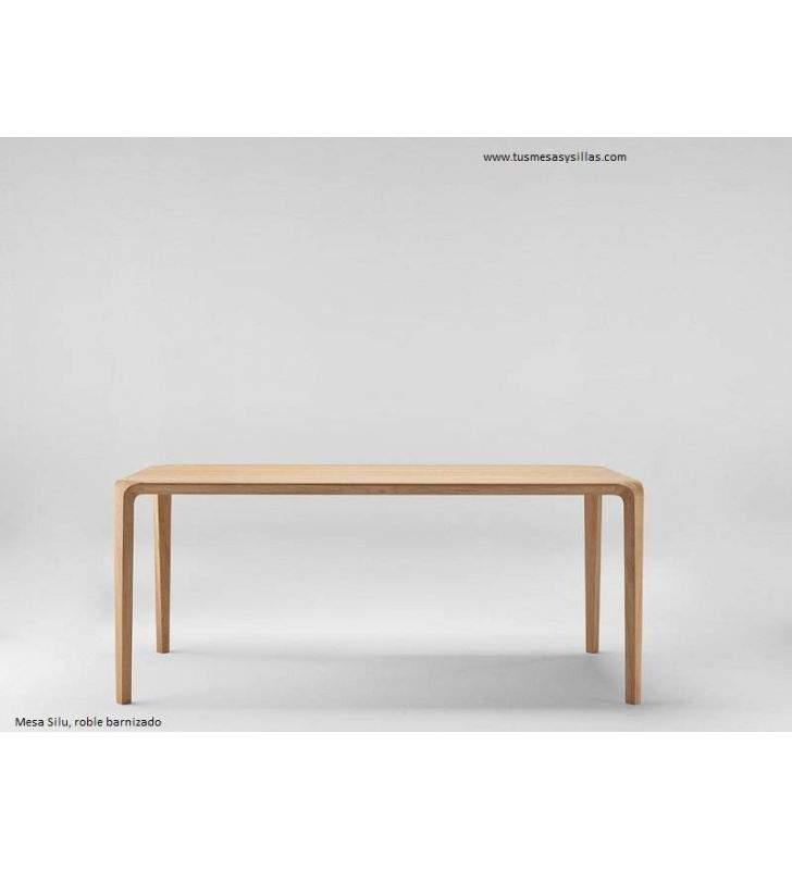 Mesa moderna en madera Silu