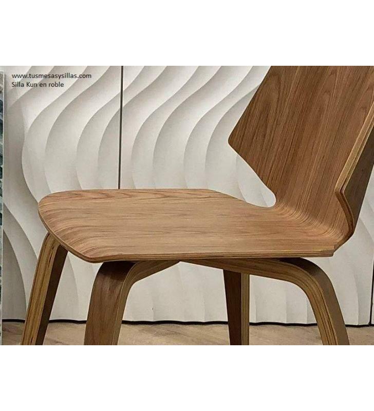 sillas-modernas-roble-barnizado
