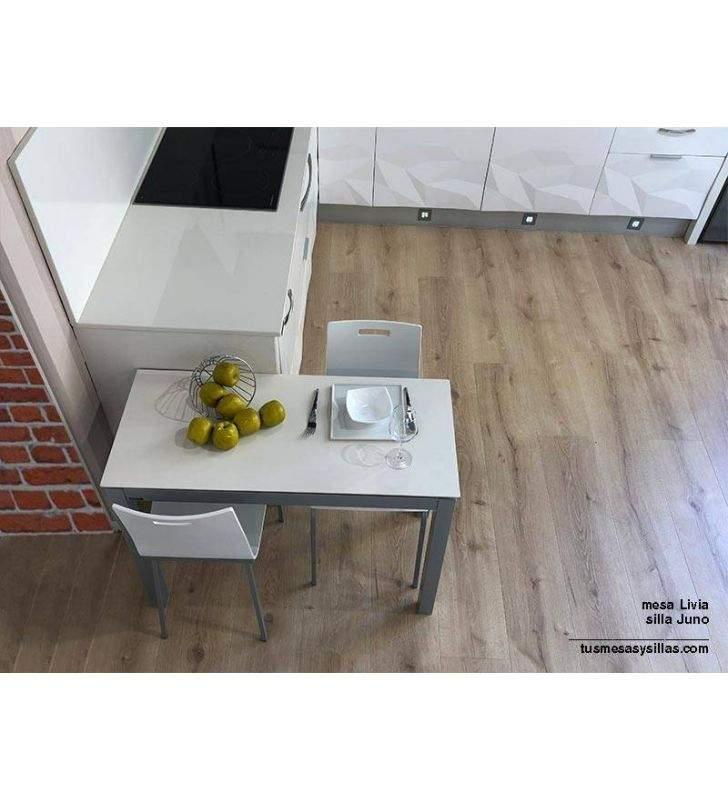 Table Livia avec partie inférieure du comptoir en porcelaine de 45 et 50 cm
