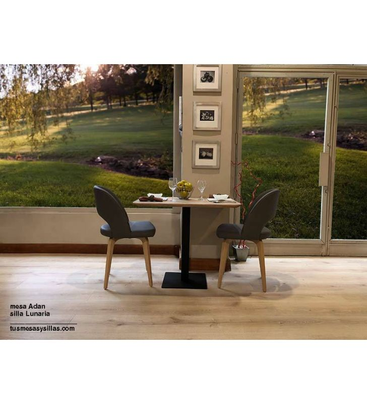 Adan central pied table dans le style nordique