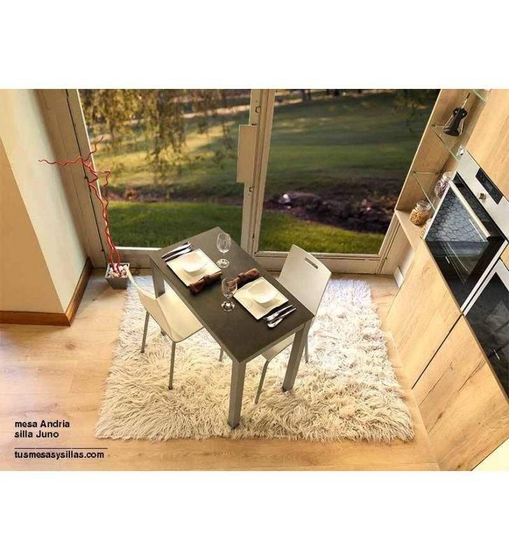 Table étroite Andria 90x50 cm en verre ou en porcelaine