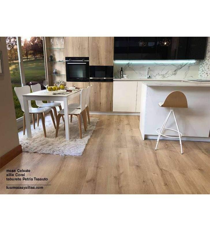 Mesa cocina extensible Celeste, extensible igual