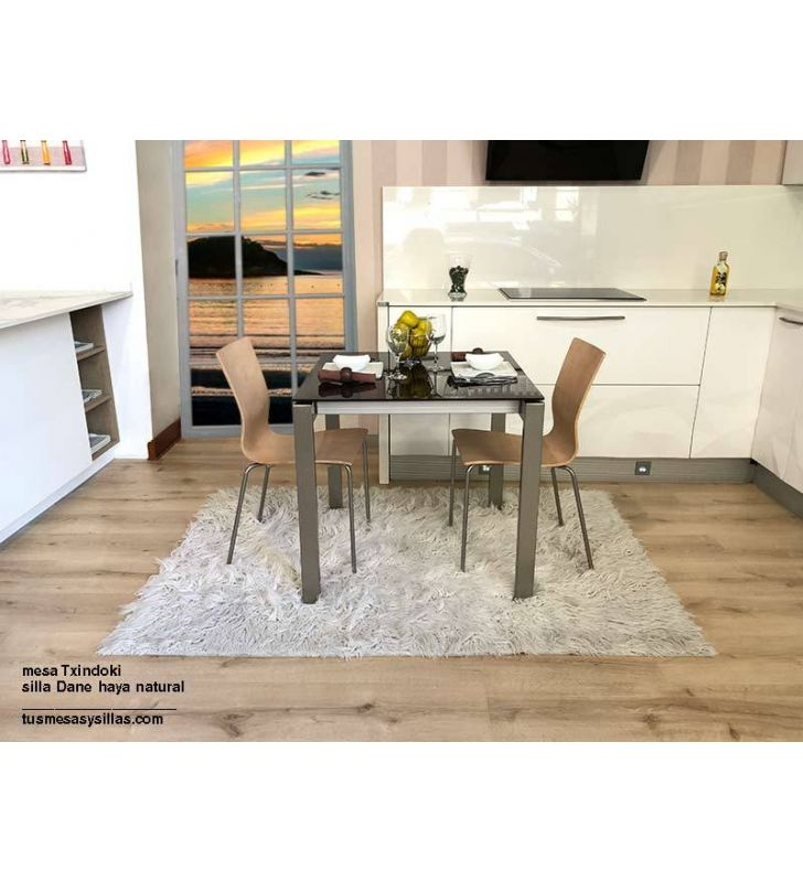 mesa Punto pequeña 90x60cm extensible para cocina de Ondarreta