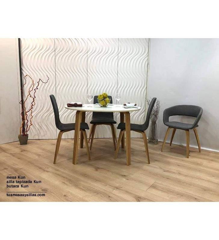 Mesa Kun madera de roble