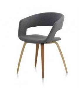 silla con brazos tapizada envolvente