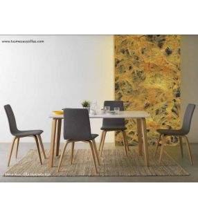Mesa fija Kun en roble o blanca 150x90 cm