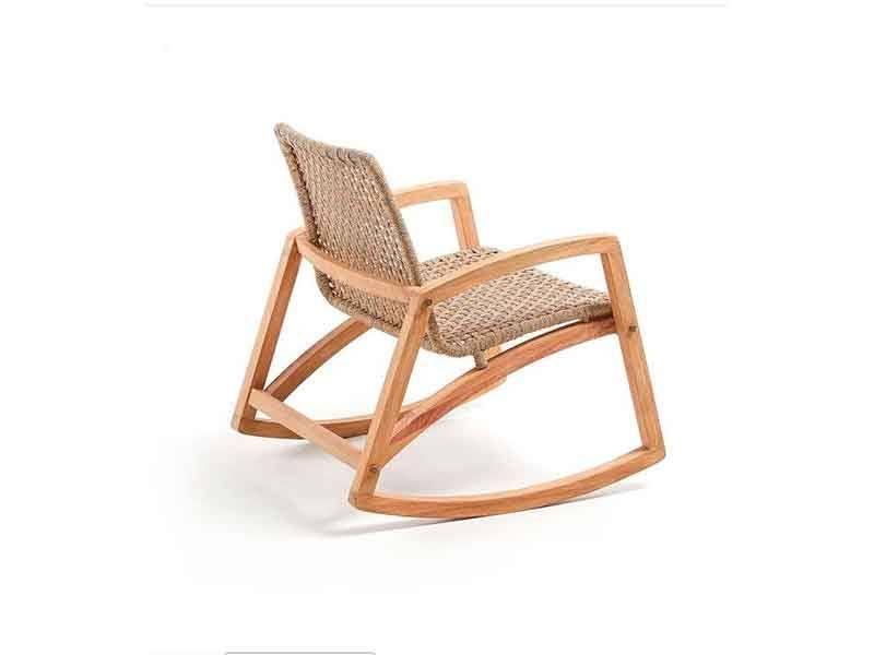Mecedora madera con brazos Interior y exterior