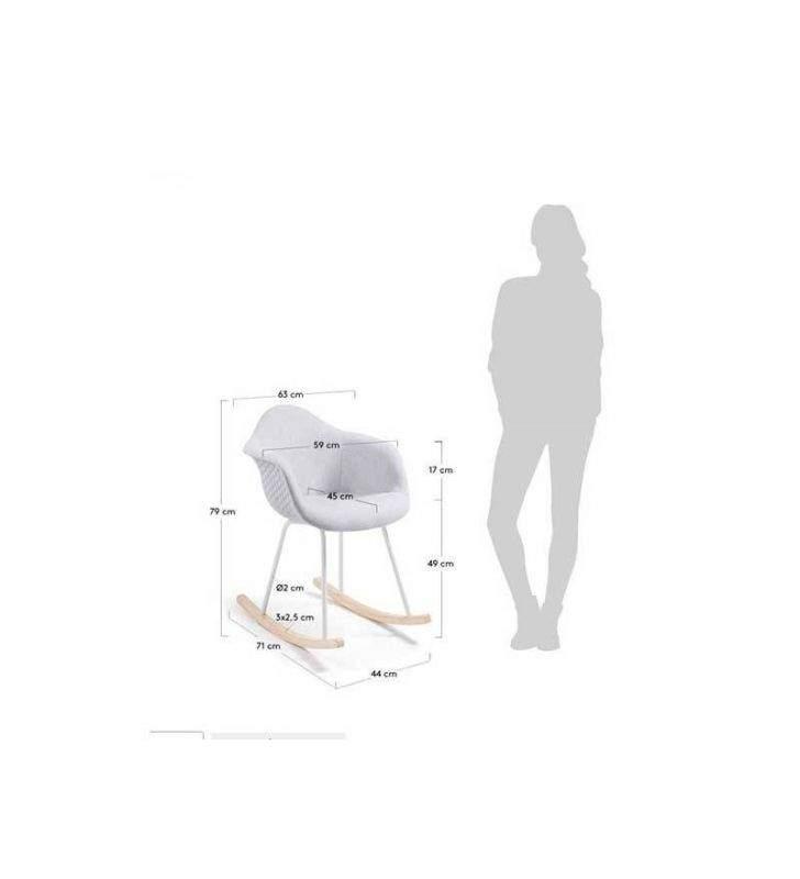 Mecedora Plástico blanca de diseño Kenna