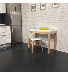 mesa cocina estrecha Maxima en madera y ecimera dekton