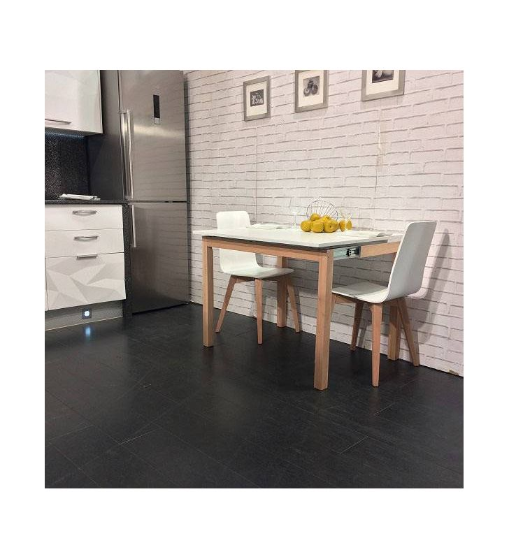 mesa cocina estrecha Maxima en madera y ecimera dekton