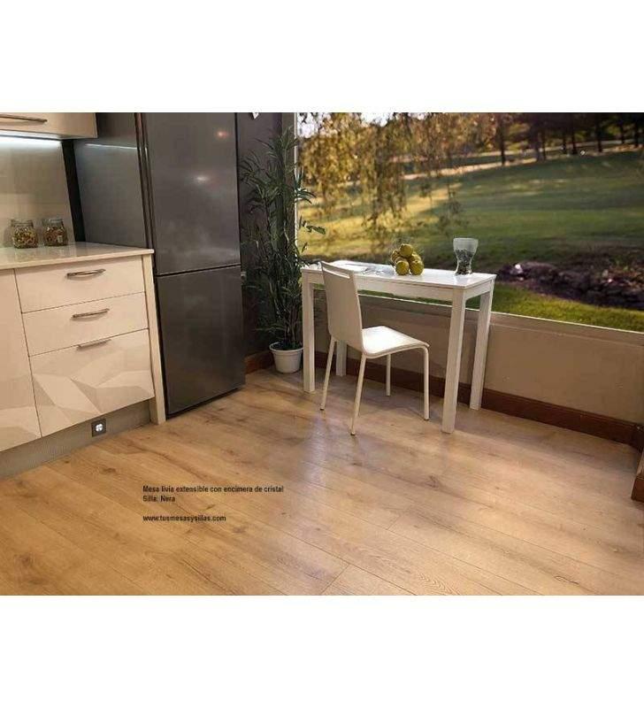 Mesa-cocina-estrecha-blanca