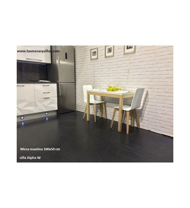 Mesa extensible Maxima fondo 50 cm estilo nórdico