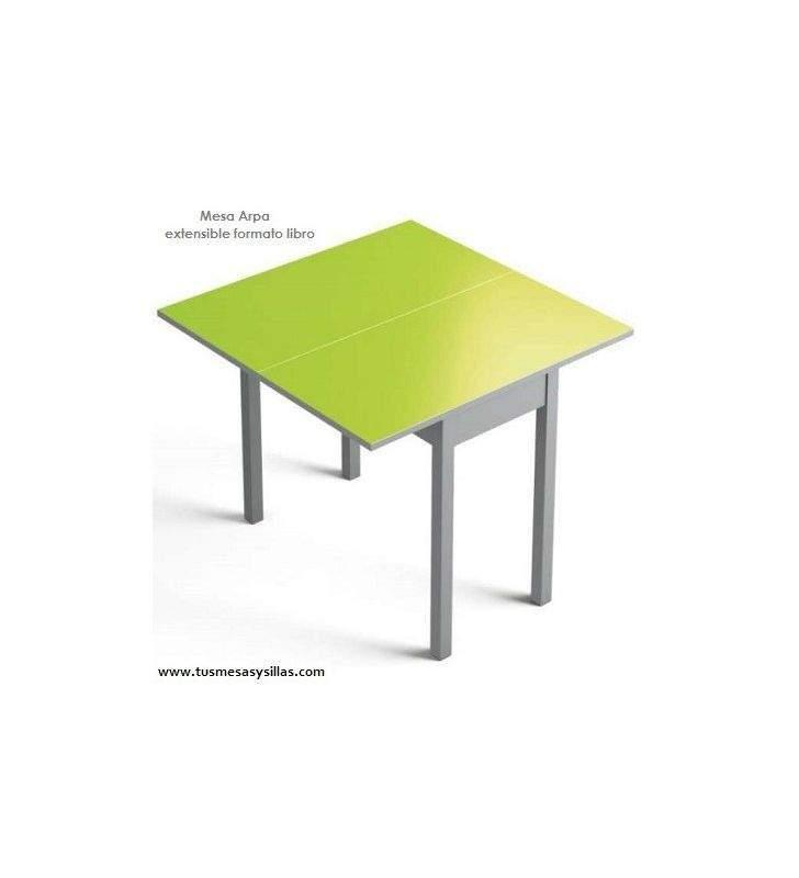 Mesa de cocina pequeña extensible en formato libro Arpa