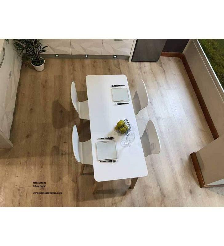 mesas-cocina-estrechas-blancas