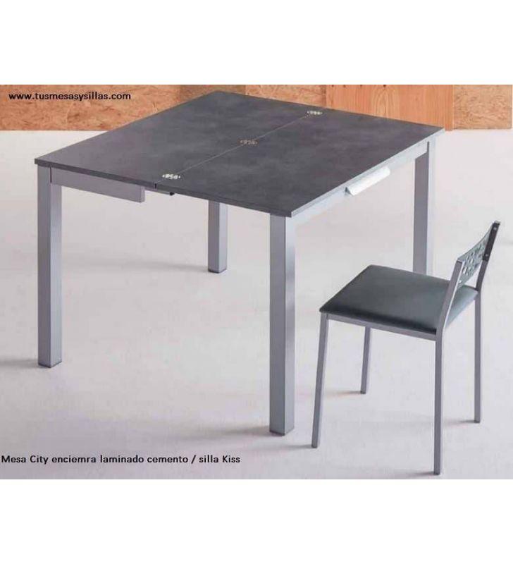 Mesa de cocina pequeña extensible City con cajón fondo 45 o 50 cm