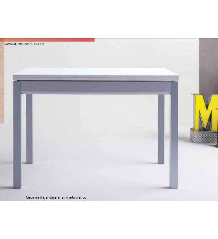 Menta, table de cuisine extensible avec tiroir