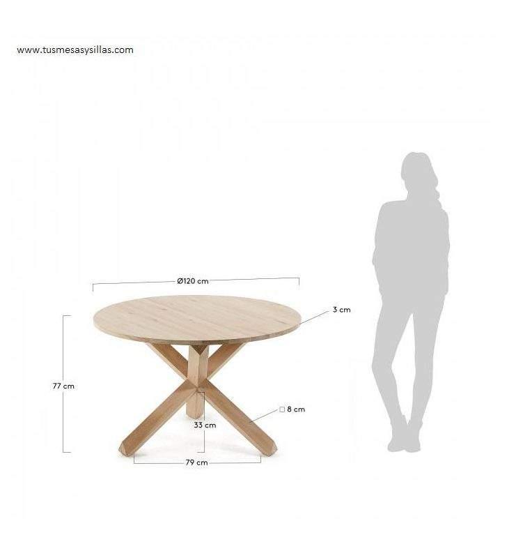 Table à manger ronde Arendal comptoir en bois