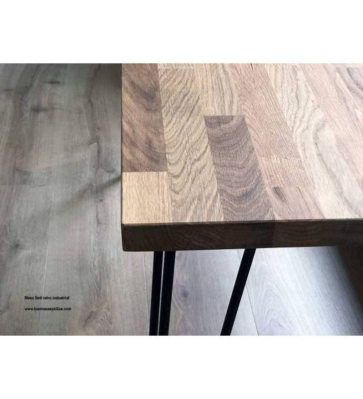Mesa Bety en madera maciza vintage