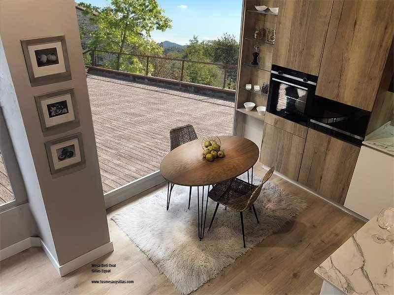 Mesa-ovalada-comedor-cocina