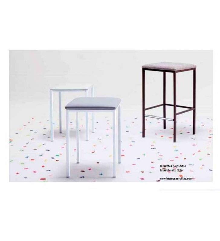 Taburetes-metálicos-tapizados-modernos