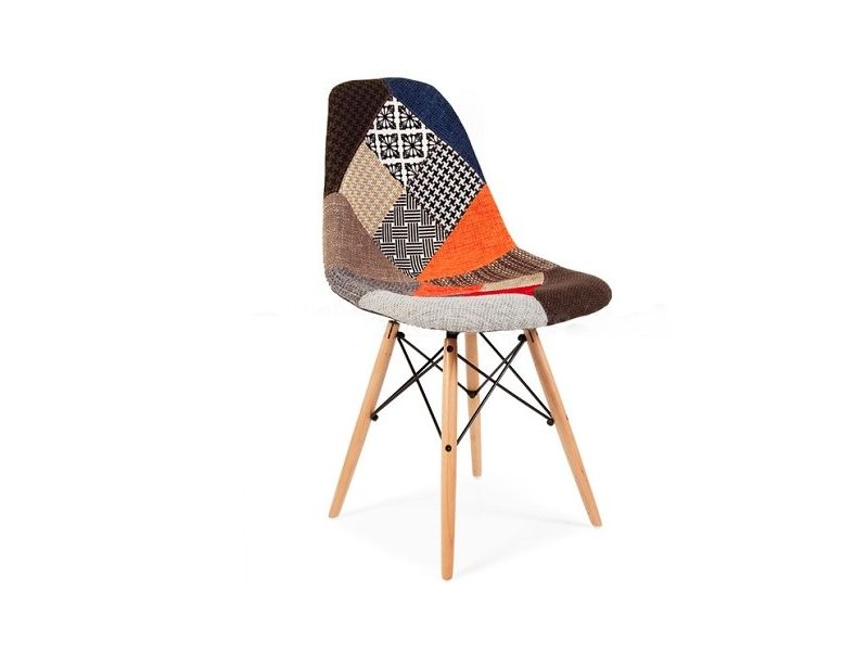 silla Tower Eames tejido patchwork